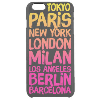 Favorite Cities Neon Clear iPhone 6 Plus Case