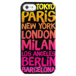 Favorite Cities Neon Uncommon Clearly™ Deflector iPhone 5 Case