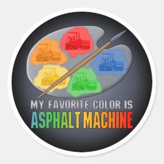 Favorite Color Is Asphalt Paving Machine Sticker