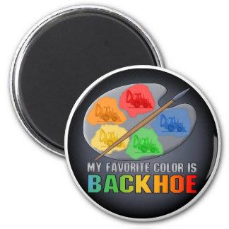 Favorite Color Is Backhoe Sticker Magnet