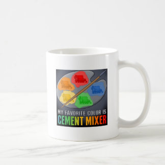 Favorite Color Is Cement Mixer Truck Mens T-Shirt Coffee Mug