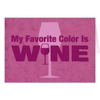 Favorite Color Is Wine Card