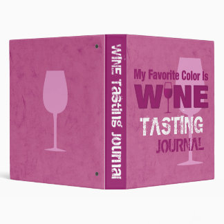 Favorite Color Is Wine Journal 3 Ring Binder