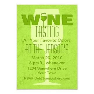 "Favorite Color Is Wine Lime Invitation 5"" X 7"" Invitation Card"