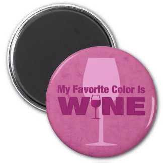 Favorite Color Is Wine Fridge Magnet
