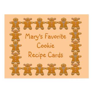 Favorite Cookie Recipe Cards~Gingerbread~Customize Postcards