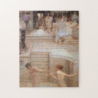 Favorite Custom by Lawrence Alma-Tadema Jigsaw Puzzle