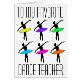 Favorite Dance Teacher Ballet Recital Thank You Card