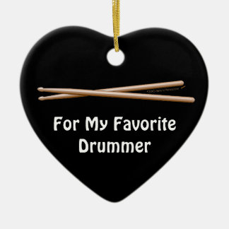 Favorite Drummer Drumsticks Customizable Ornament