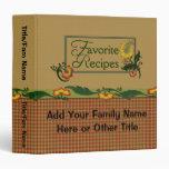 Favorite Family Recipes Vinyl Binder