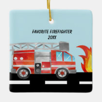 Favorite Firefighter Personalized Ornament