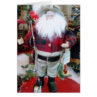 FAVORITE FISHERMAN AT CHRISTMAS CARD