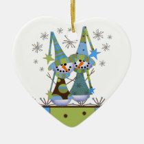 christmas, flake, snow, winter, snowmen, gift, gifts, ornament, Ornament with custom graphic design