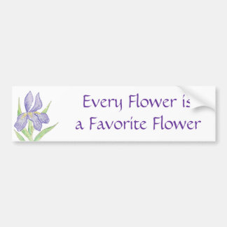 Favorite Flower Bumper Sticker