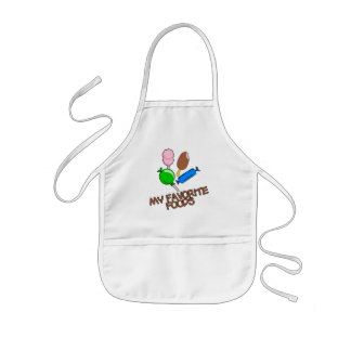 Favorite Foods apron for kids