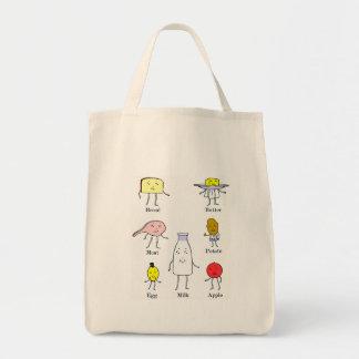 Favorite Foods Vintage Kitchen Art Tote Bag