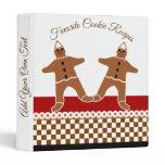 Favorite Gingerbread Man Cookie Christmas Recipes Binder