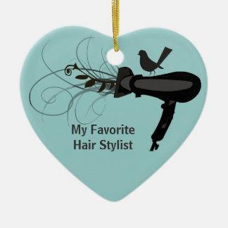 Favorite Hair Stylist Christmas Tree Ornament