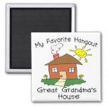 Favorite Hangout Great Grandma's House 2 Inch Square Magnet