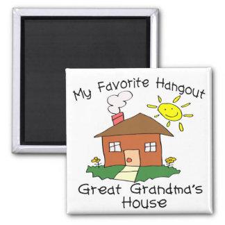 Favorite Hangout Great Grandma's House Magnet