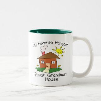 Favorite Hangout Great Grandma's House Two-Tone Coffee Mug