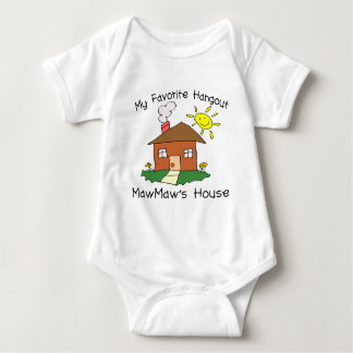 Favorite Hangout MawMaw's House Baby Bodysuit