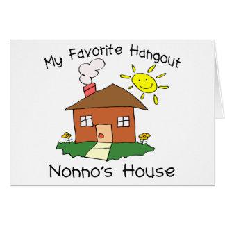 Favorite Hangout Nonno's House Card