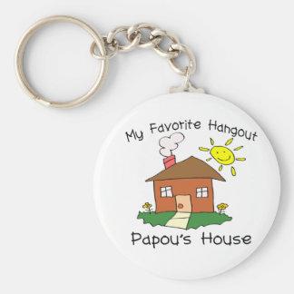 Favorite Hangout Papou's House Keychain
