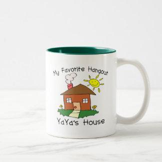 Favorite Hangout YaYa's House Two-Tone Coffee Mug