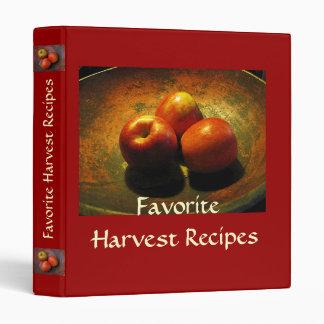 Favorite Harvest Recipes Binder
