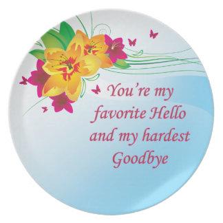 Favorite Hello Hardest Goodbye Party Plates