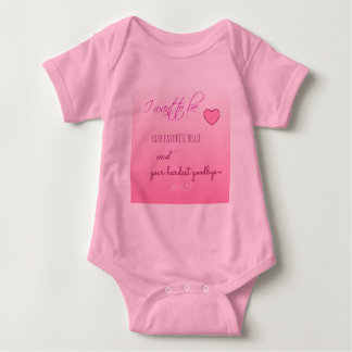 """Favorite Hello"" Valentine Infant Jersey Sleeper Baby Bodysuit"