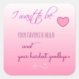 """""""Favorite Hello"""" Valentines Day Stickers"""