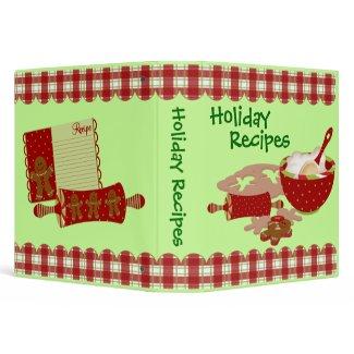 Favorite Holiday Recipes Binder binder