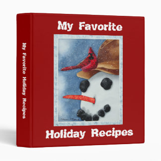 Favorite Holiday Recipes - Binder