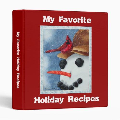 Favorite Holiday Recipes _ Binder