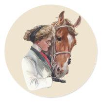 Favorite Horse Classic Round Sticker
