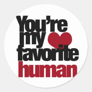 Favorite Human Love Classic Round Sticker