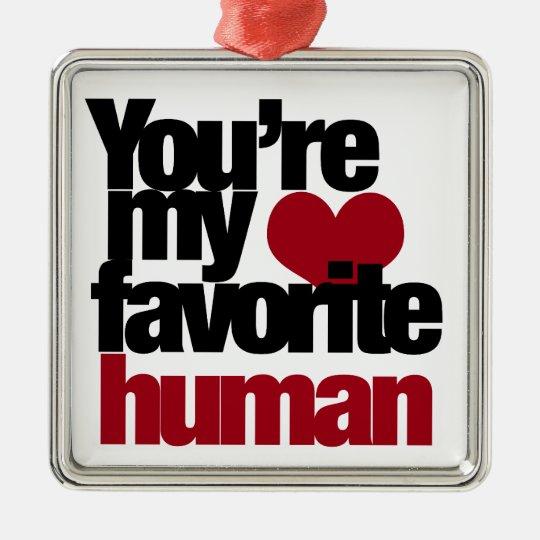 Favorite Human Love Metal Ornament