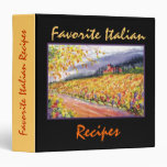 Favorite Italian Recipes - Binder