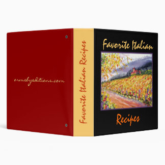Favorite Italian Recipes - Binder