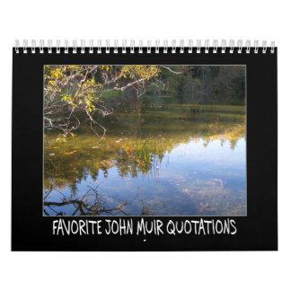 Favorite John Muir Quotations Calendar