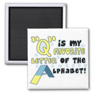 Favorite Letter Q Magnet