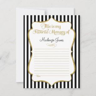 Favorite Memory Card Birthday Memories Black Gold