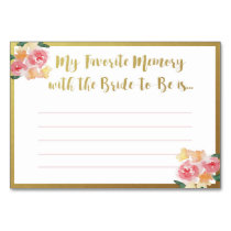 Favorite Memory with the Bride Cards