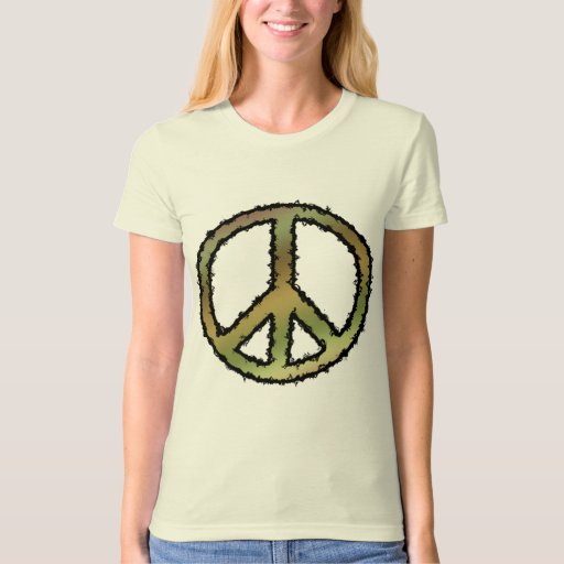 favorite Organic Camouflage Zig Zag Peace Sign T-s T-shirt