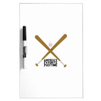 Favorite Pastime Dry Erase Board