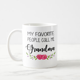 Favorite People Call me Grandma Coffee Mug