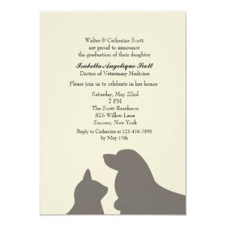 Favorite Pets Veterinary School Graduation 5x7 Paper Invitation Card