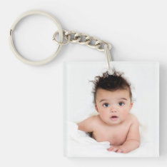 Favorite Photos 2-photo Template Keychain at Zazzle